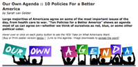 Pass It On: Our Own Agenda- 10 Policies For a Better America